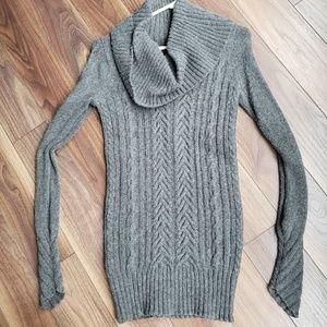 BCBG Max Azria Charcoal Tunic Sweater